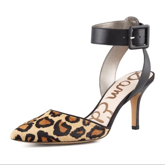 d13a54203c75 Sam Edelman Okala Leopard Print Calf-Hide Heels. M 5b6913565fef37f2ace9a7c6
